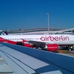 Dieses Foto zeigt die Airberlin D-ABF0 am Flughafen Zürich. Kurz vor dem Abflug richtung Stuttgart.