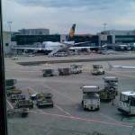 Diese Lufthansa Maschiene wurde am Flughafen Frankfurt aufgenommen.